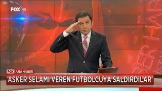 ASKER SELAMI VEREN FUTBOLCUYA SALDIRDILAR