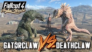 Giant Alpha Deathclaws VS Giant GatorClaw | Fallout 4 Nuka World Battle Arena | Battle Request