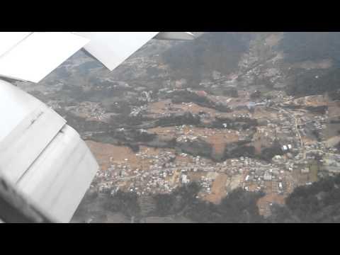 Flying into Kathmandu Nepal