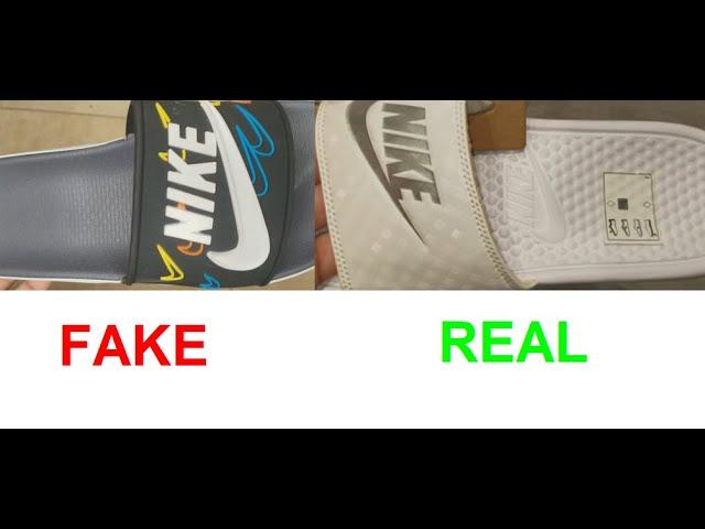 Real vs Fake Nike slides. How to spot
