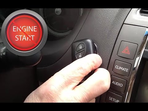 Starting any push button start car with a dead key fob or smart key battery.