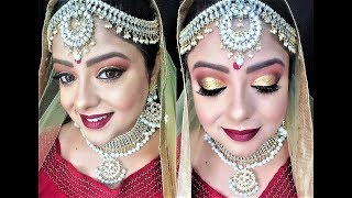 Indian Bridal Makeup Tutorial in HINDI | Affordable Products | Priaz beauty Zone