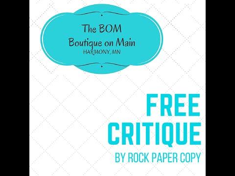 FREE website critique by Rock Paper Copy - Bom Boutique