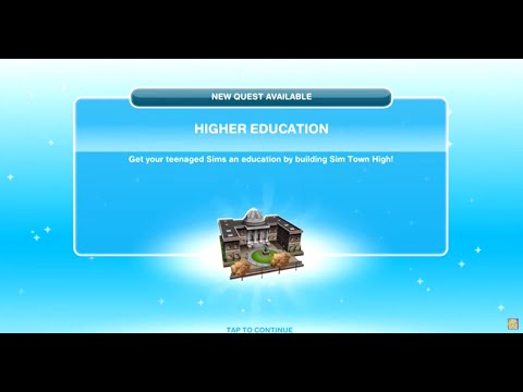 Sims Freeplay | Higher Education Quest