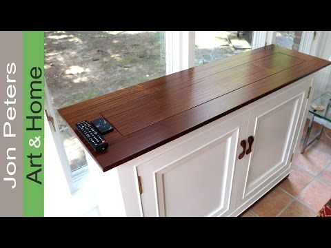 how to build a tv lift cabinet making the top youtube. Black Bedroom Furniture Sets. Home Design Ideas