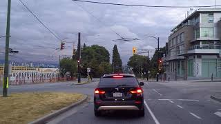 Driving in Vancouver Canada - UBC (West 16th) to Burrard Street - Morning Drive 2018