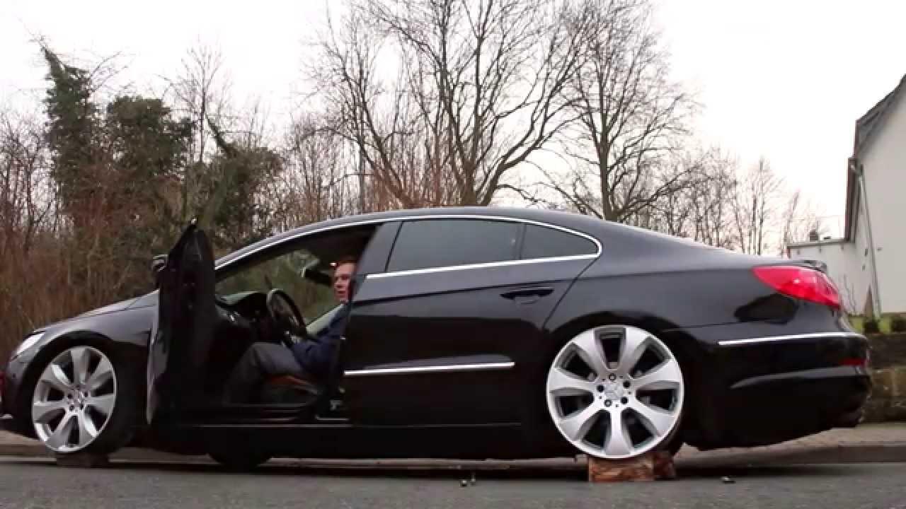VW Passat CC on AirLift  Testing new wheels  MFS Media   YouTube