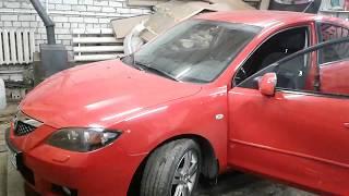 mazda 3 2008г. разборка водительской  карты двери своими руками