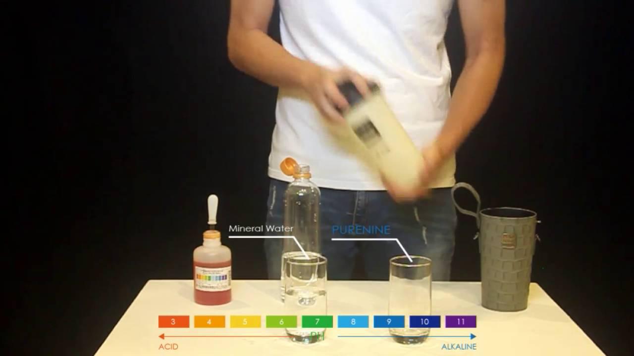 PURENINE智能轉鹼水瓶實測影片 - YouTube