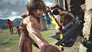 ATTACK ON TITAN 2 - LEVI vs FEMALE TITAN Boss Fight Gameplay & EPIC FINISH