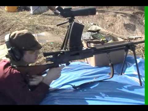 Japanese Type 99 Light Machine Gun live fire