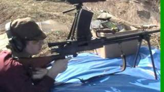 Japanese Type 99 Light Machine Gun live fire