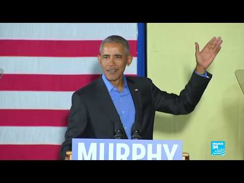 US - Former President Barack Obama returns to politics