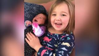 Top 10 Funniest Big Sister/ Brother and New Born Babies | Funny Babies and Pets