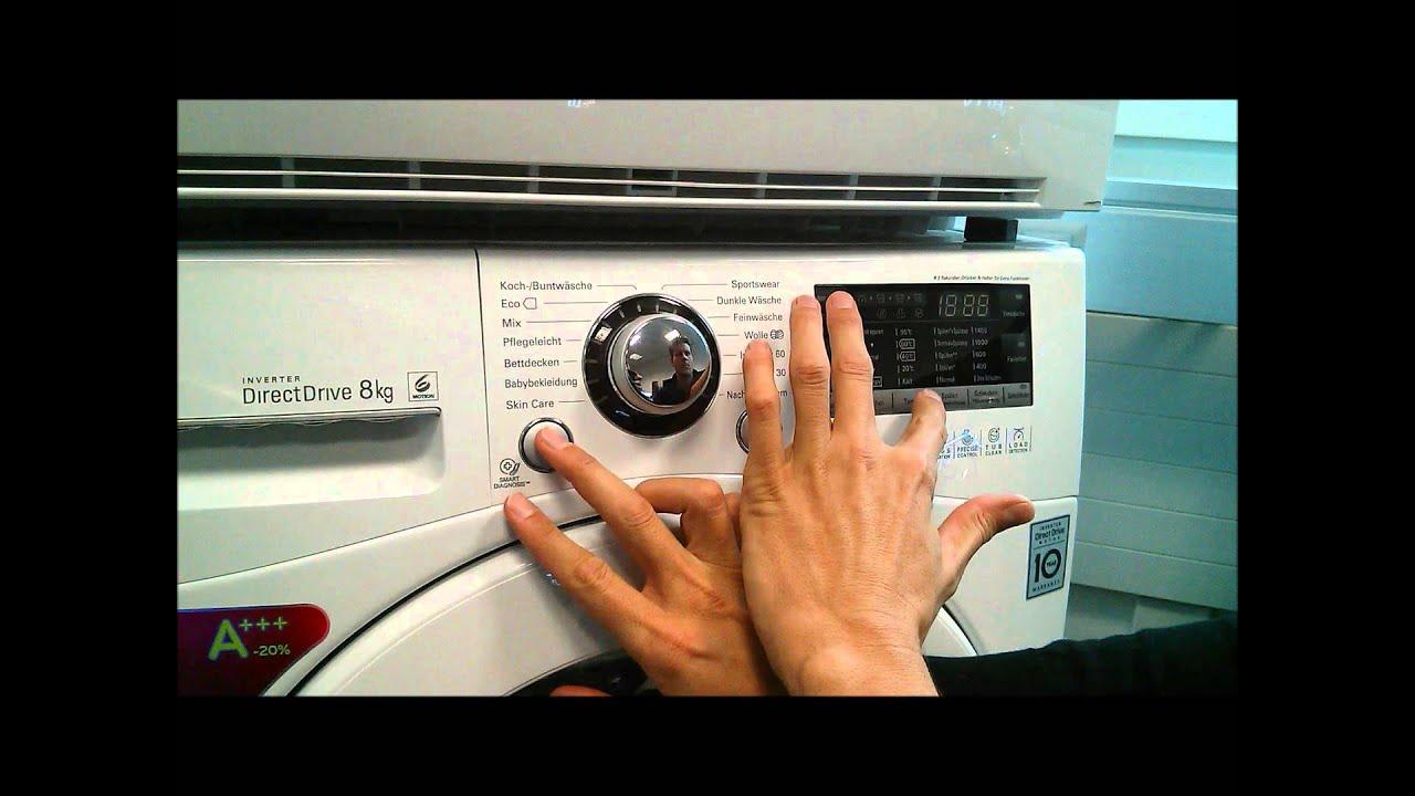 Lg Electronics Waschmaschine 6 Motion Demo Modus Prime Prime Youtube