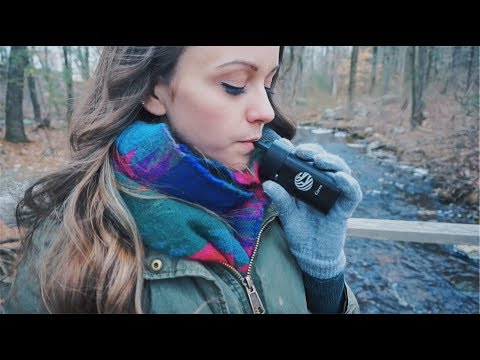 SMOKING WEED IN THE WOODS! // CIRRO VAPORIZER