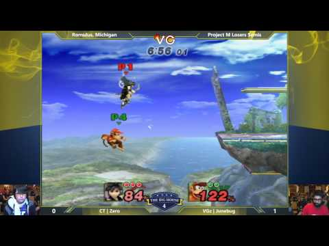 TBH4 - ZeRo (Pit) vs Junebug (Diddy Kong) - Project M Losers Semis - Smash PM