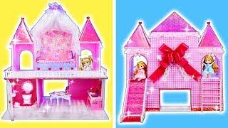 リカちゃん お城をDIY❤ミキちゃんとマキちゃんの子供のお部屋をグルーガンで手作り⭐すべり台や階段もあるよ🍭おもちゃ 人形 アニメ
