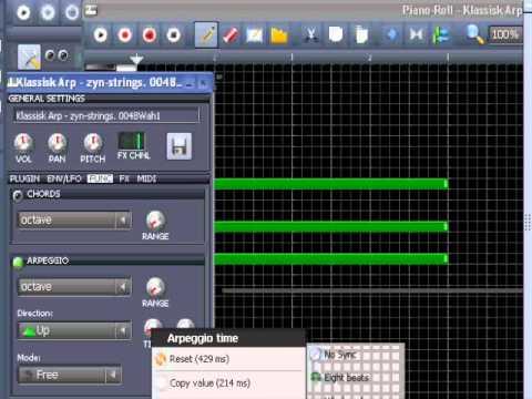 LMMS tutorial: Create Chord-arpeggios In LMMS