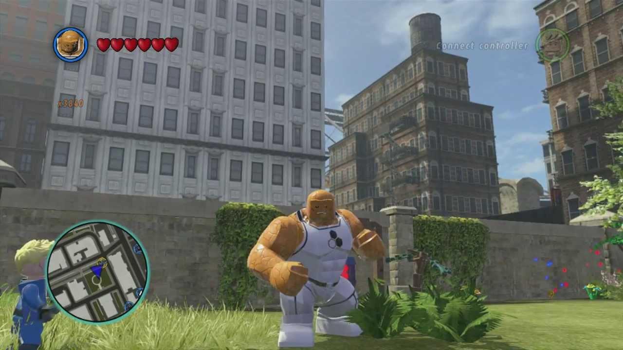 LEGO Marvel Superheroes - Future Foundation Thing Gameplay ...