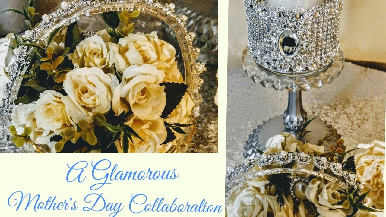 Diy glamorous dollar tree gifts mother 39 s day collaboration for Home decor centerpieces
