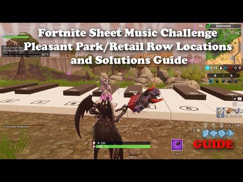 Fortnite Sheet Music Challenge Pleasant Park/Retail Row Locations And Solutions Guide