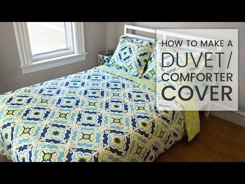 How To Make A Duvet Cover Youtube