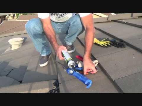 How To Repair A Roof Tile Ridge Cap Youtube