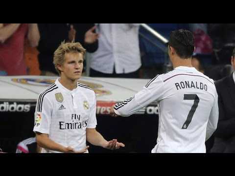 Martin ødegaard debut for Real Madrid vs Getafe 23.05.2015 HD