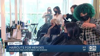 Healthcare workers get free haircuts at Scottsdale salon