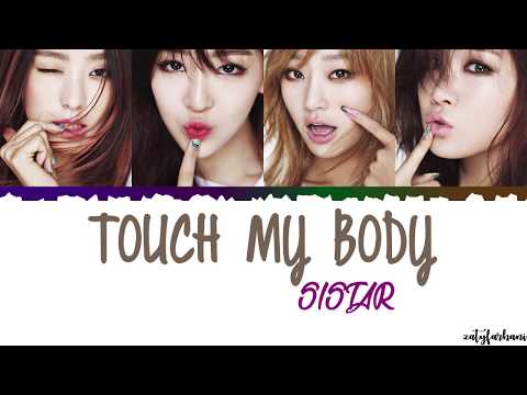 Sistar - Touch My Body Lyrics [Color Coded Han Rom Eng]