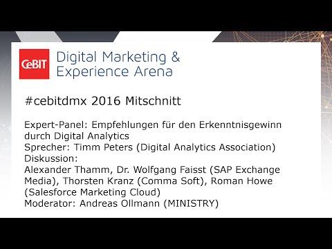 """#cebitdmx: Expert Panel """"Empfehlungen für den Erkenntnisgewinn durch Digital Analytics"""""""