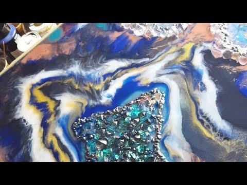 Art Resin Geode color change :/