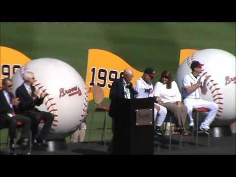 Bobby Cox Atlanta Braves Tribute Ceremony Part 1