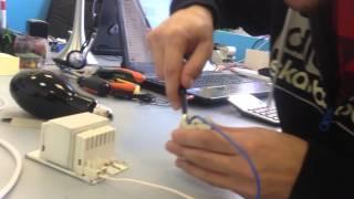 видео Схема подключения лампы дрл через дроссель и без него