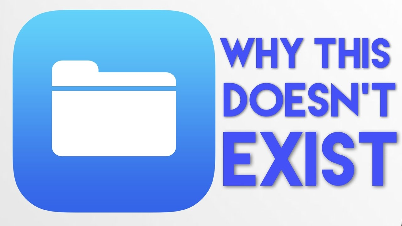 Why there's no file explorer for iOS