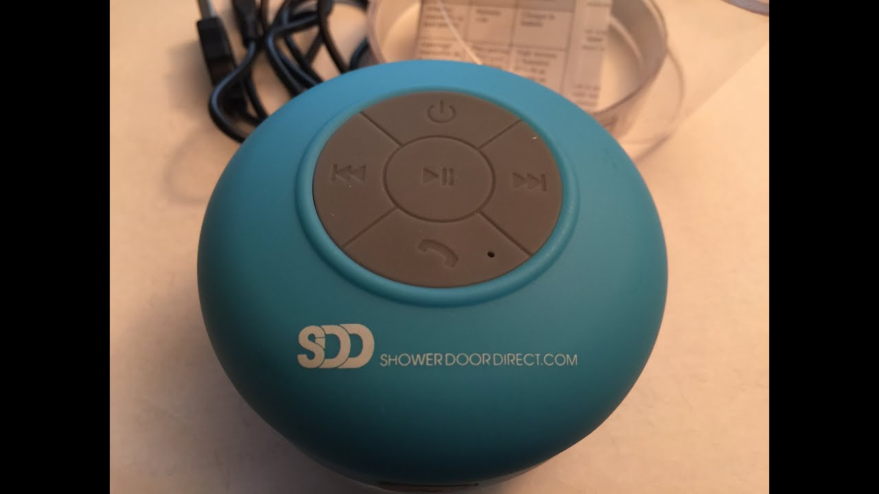 generic review of waterproof bluetooth shower speaker model wwbsbu