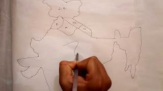 भारत का मानचित्र बनाना सीखे भाग 1/2/Learn to make a map of India part 1/2