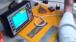 Контроль тонкостенного сварного шва(0:36 РС - шов толщиной на 2мм 1:20 Настройка для контроля хордовым ПЭП., 2014-10-07T09:43:27.000Z)