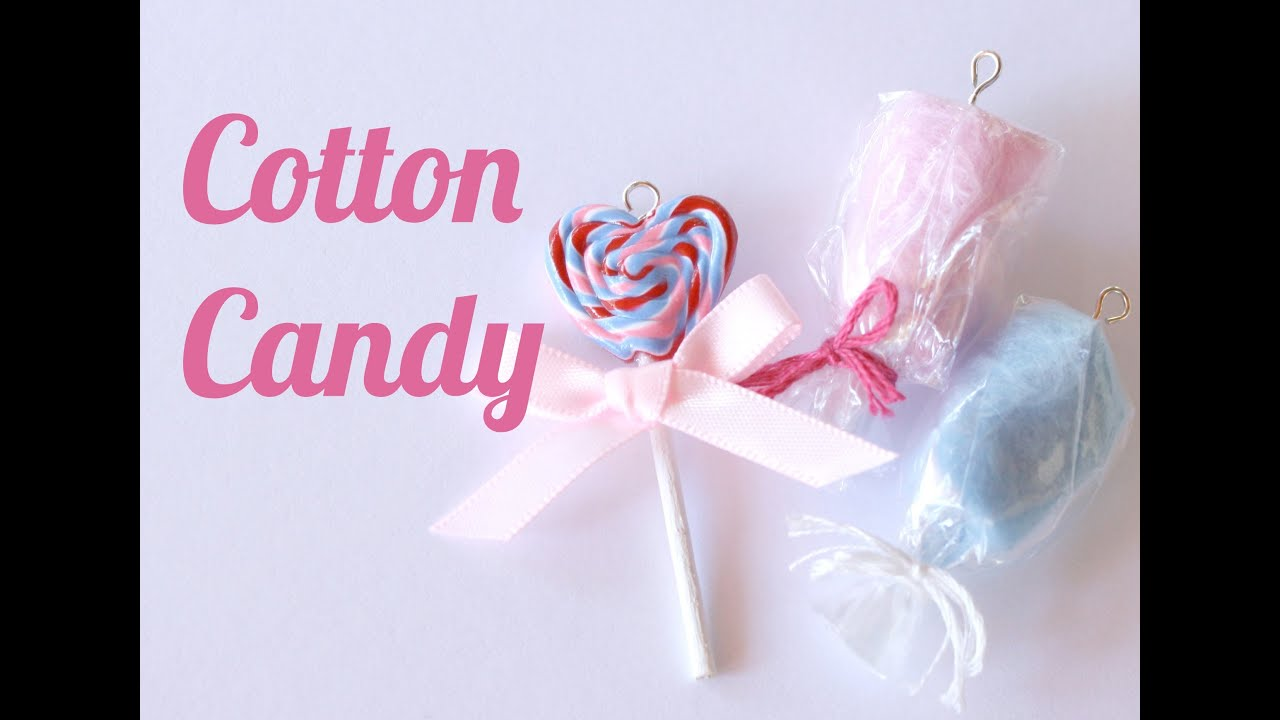 Cotton Candy Charms - Polymer Clay Jewelry (Jewellery) Tutorial ...