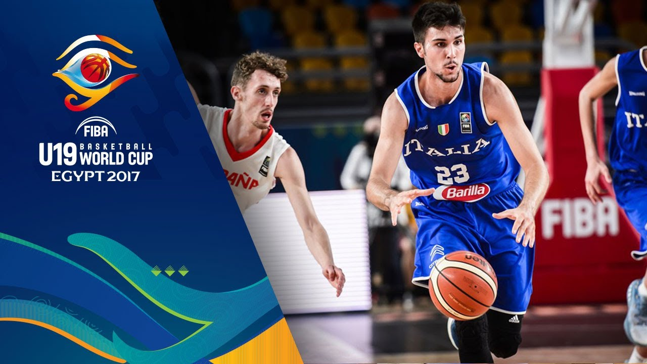 478ade53b933e Spain vs Italy - Highlights - Semi-Final - FIBA U19 Basketball World Cup  2017