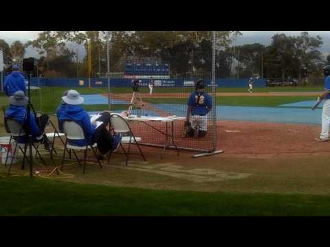 Michael Flores pitching  @ UCSB Baseball Camp