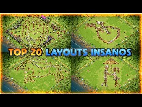 TOP 20 LAYOUTS INSANOS/ENGRAÇADOS PARA CV12 (TOP 20 INSANE/FUNNY BASE DESIGN TH12)
