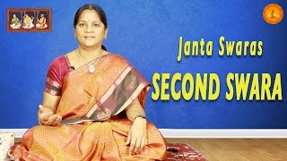 Janta Swaras - Second Swara || Learn Carnatic Classical Music from Smt. Balarka J || Sampradaya