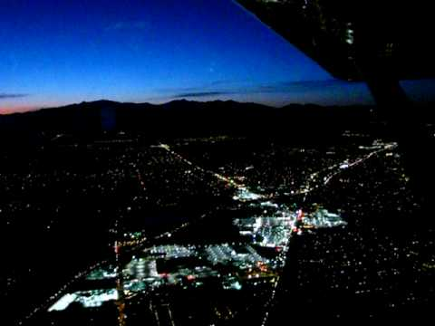 Night Flight between Salt Lake Valley and Orem, UT