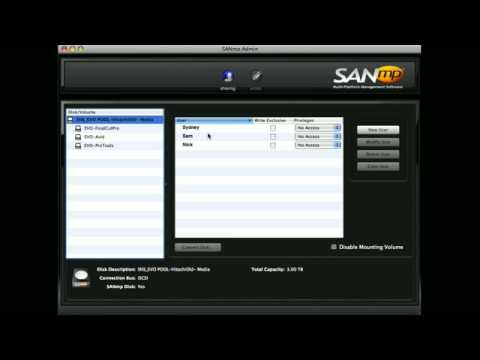 SANmp Features - SNS (Studio Network Solutions)