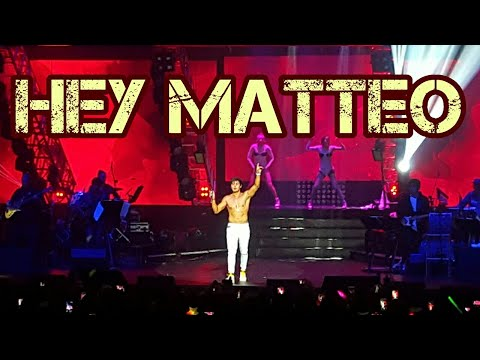 Matteo Guidicelli's hot prod at Hey Matteo concert