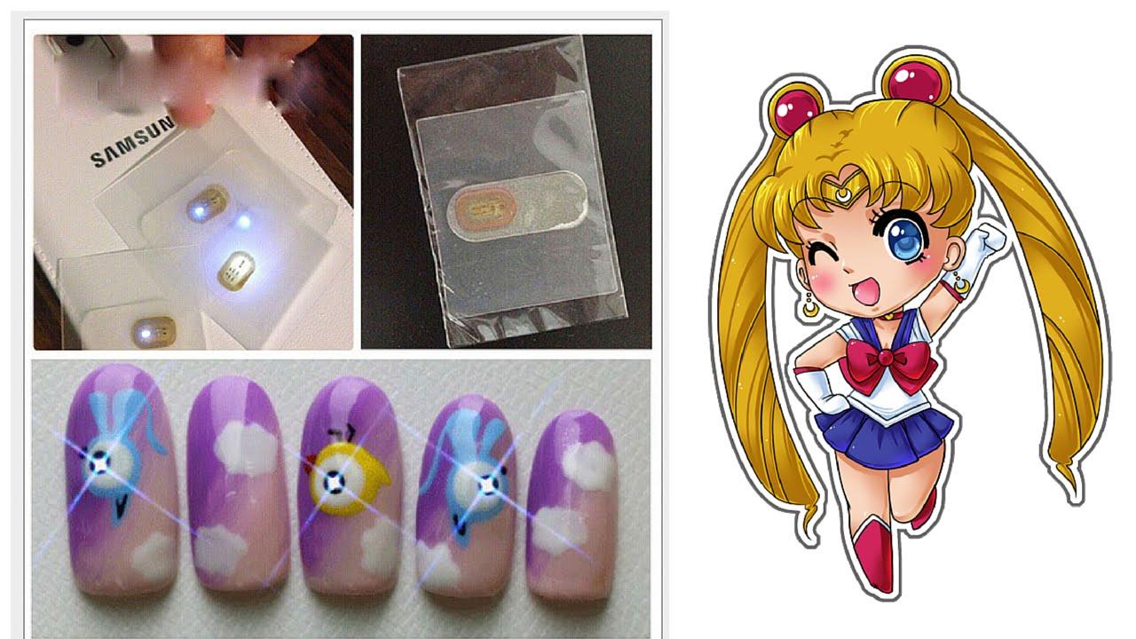 tutorial nail art luci led NFC su semipermanente - YouTube