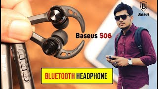 Baseus S06 Neckband Bluetooth Earphone Wireless headphone