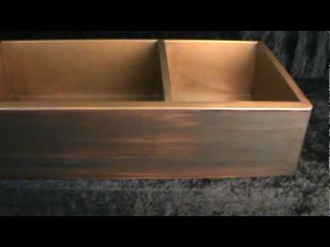 Oil Rubbed Bronze Patina On A Copper Apron Sink Youtube
